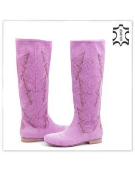 Лилави дамски летни ботуши 0117361 в online магазин Fashionzona