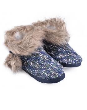 дамски пантофи сини 0128570 в online магазин Fashionzona