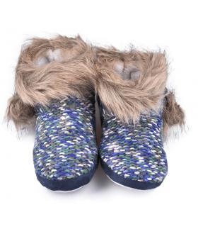 Сини дамски пантофи Delancie в online магазин Fashionzona