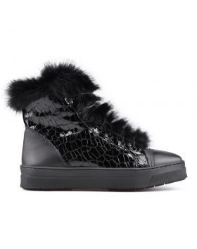 Черни дамски ежедневни боти с топъл хастар 0130108 в online магазин Fashionzona