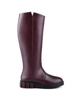 Тъмно червени дамски ежедневни ботуши 0128822 в online магазин Fashionzona