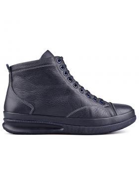 Сини мъжки ежедневни боти с топъл хастар 0130102 в online магазин Fashionzona