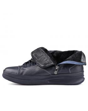 Сини мъжки ежедневни боти с топъл хастар Goncalve в online магазин Fashionzona