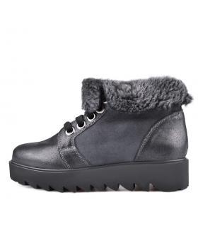 Черни дамски ежедневни боти с топъл агнешки хастар 0130246 в online магазин Fashionzona