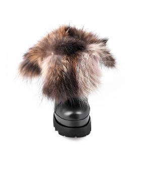 дамски ежедневни боти с топъл хастар черни 0130235