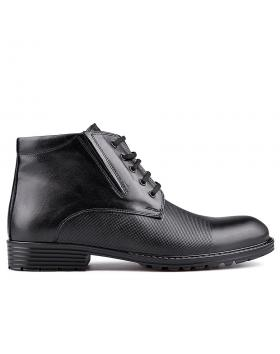 Черни мъжки елегантни боти с топъл хастар 0129030 в online магазин Fashionzona
