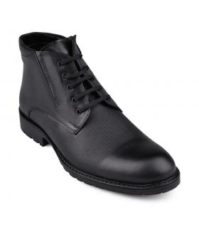 Черни мъжки елегантни боти с топъл хастар Teodor в online магазин Fashionzona