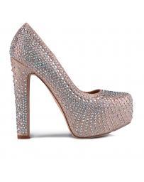 Бежови дамски елегантни обувки Ramie