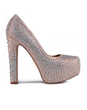 Бежови дамски елегантни обувки 0129203 в online магазин Fashionzona