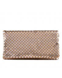 Златиста дамска елегантна чанта 0129287