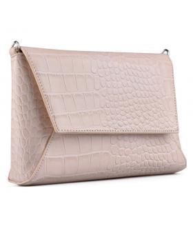 Бежова дамска елегантна чанта Charelyn в online магазин Fashionzona