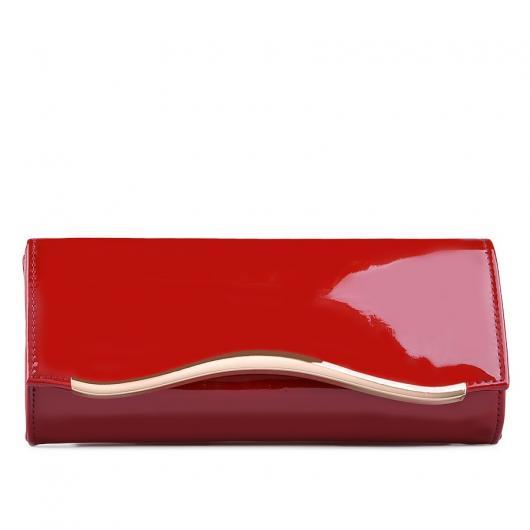 Червена дамска елегантна чанта Ira