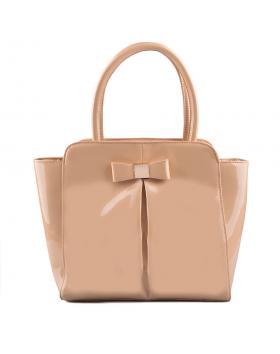 Бежова дамска елегантна чанта 0129289 в online магазин Fashionzona