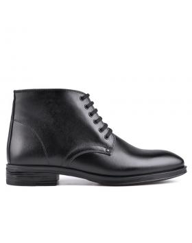 Черни мъжки елегантни боти с топъл хастар 0129028 в online магазин Fashionzona