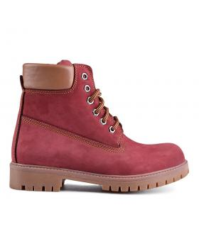 Червени дамски ежедневни боти 0130693 в online магазин Fashionzona