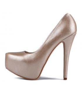 Златисти дамски елегантни обувки Desiri в online магазин Fashionzona