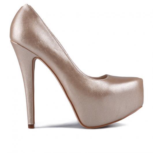 Златисти дамски елегантни обувки Desiri