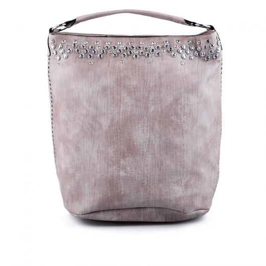 Бежова дамска ежедневна чанта Jovena