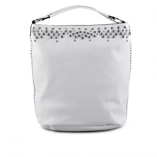 Бяла дамска ежедневна чанта Kishori