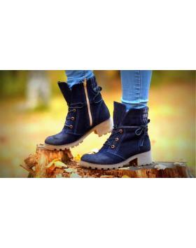 Сини дамски ежедневни боти 0128886 в online магазин Fashionzona