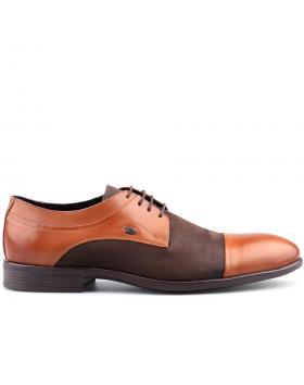 мъжки елегантни обувки кафяви 0125882 в online магазин Fashionzona