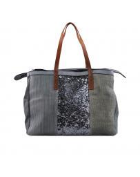 Сива дамска ежедневна чанта 0129486
