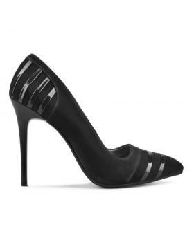 Черни дамски елегантни обувки 0130014 в online магазин Fashionzona