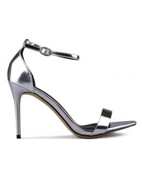 Дамски елегантни сандали сребристи 0129378 в online магазин Fashionzona