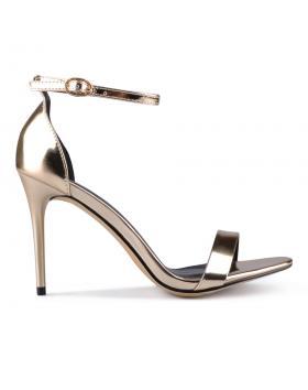 Дамски елегантни сандали златисти 0129379 в online магазин Fashionzona