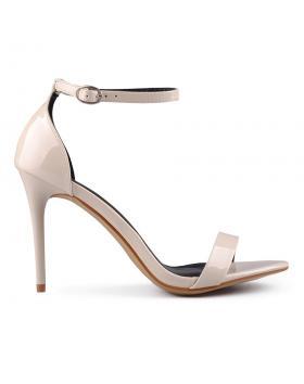 дамски елегантни сандали бежови 0129377 в online магазин Fashionzona