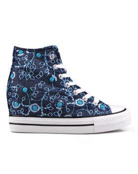 Дамски кецове сини 0130112 в online магазин Fashionzona