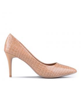 Бежови дамски елегантни обувки 0129583 в online магазин Fashionzona