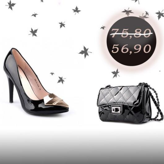 2в1 Дамски елегантни обувки с чанта Mahek