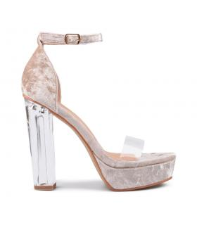 Бежови дамски елегантни сандали 0130567 в online магазин Fashionzona