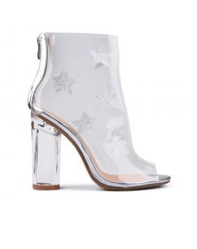 Дамски летни боти сребърни 0130563 в online магазин Fashionzona