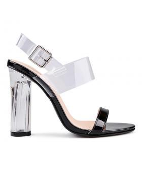 Черни дамски елегантни сандали 0130559 в online магазин Fashionzona
