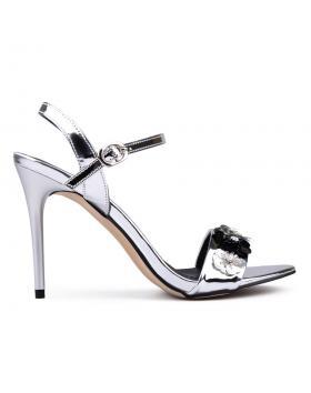Дамски елегантни сандали сребърни 0130561 в online магазин Fashionzona