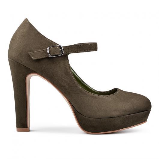 Зелени дамски елегантни обувки Addie
