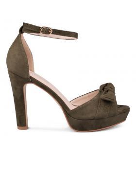 Дамски елегантни сандали зелени 0130557 в online магазин Fashionzona