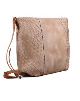 Бежова дамска ежедневна чанта 0130439 в online магазин Fashionzona