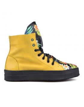 Жълти дамски кецове 0131290 в online магазин Fashionzona