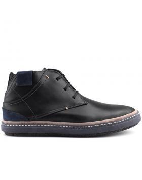 мъжки ежедневни боти черни 0125695 в online магазин Fashionzona