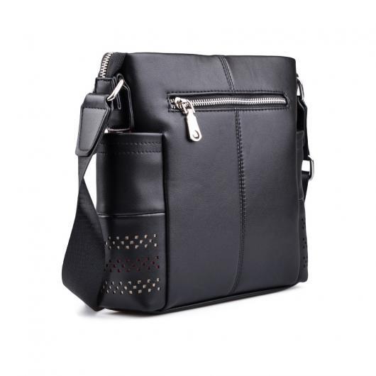 Черна мъжка ежедневна чанта Alfonsin