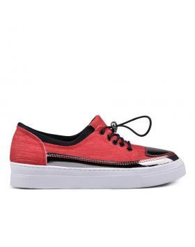 Червени дамски кецове 0131214 в online магазин Fashionzona