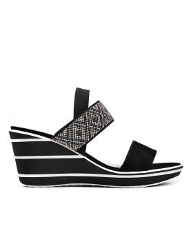 Дамски ежедневни сандали черни 0130127 в online магазин Fashionzona