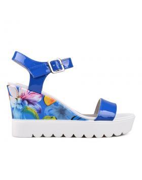 Дамски ежедневни сандали сини 0130119 в online магазин Fashionzona