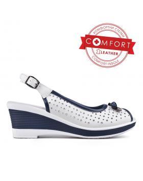 Дамски ежедневни сандали бели 0129509 в online магазин Fashionzona