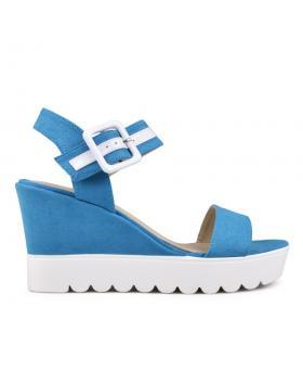 Дамски ежедневни сандали сини 0130120 в online магазин Fashionzona