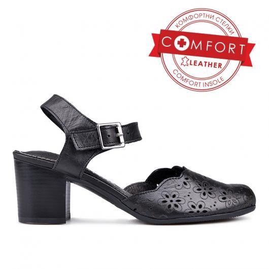 Черни дамски ежедневни сандали Robbie