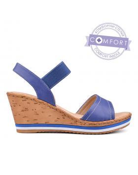 Дамски ежедневни сандали сини 0129875 в online магазин Fashionzona